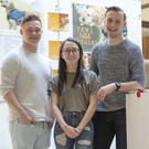 4th Year DkIT Creative Media Students, Alex Clarke, Aisling Conlon, Alex Clarke & Matthew Turnbull of the Paws for Thought project at Fís 2018