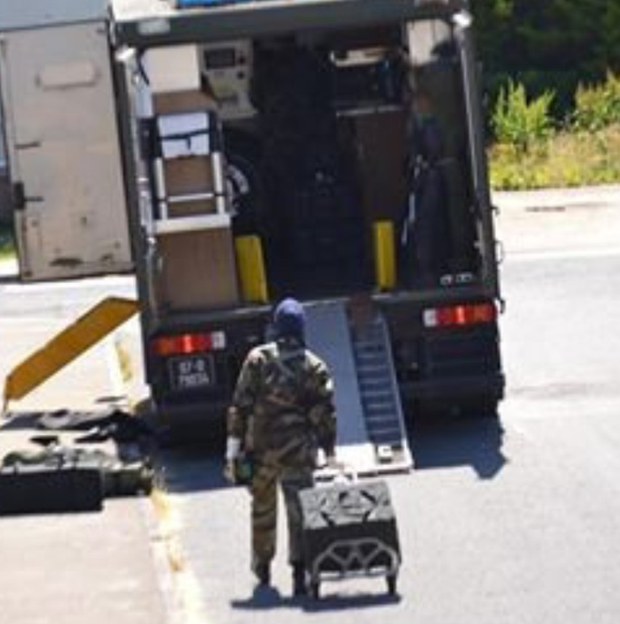 The army bomb disposal unit was called to an estate in the town last week