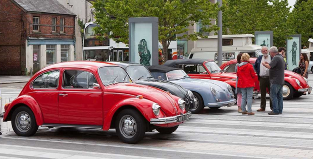 Classic VW Beetles and camper vans will be back on Market Square this Saturday