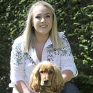 Nuala Mullen with her dog, 'Ziggy' The Louth finalist in the Nose of Tralee Competition