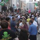 Crowds throng West Street in Drogheda on Sunday afternoon