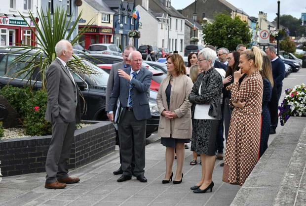 The judging panel on a tour of Blackrock for the National Enterprise Town awards
