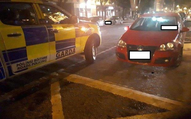 Gardai posted on their Twitter account an image of the vehicle parked illegally in a disabled bay