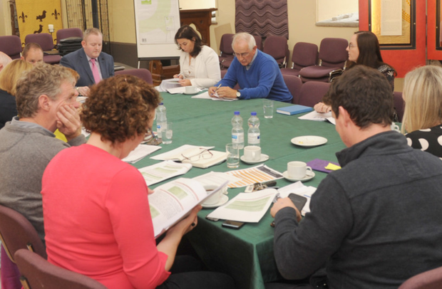 The Municipal District of Dundalk Councillors at a meeting held in The Holy Trinity Heritage Centre, Carlingford