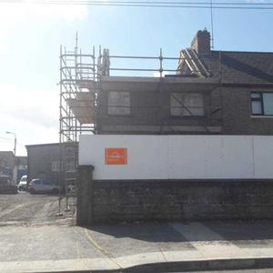 A house along the Point Road, Dundalk current under refurbishment as part of a CPO project