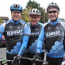 Gordon Corrigan, Dave Smith and Mark Connolly who took part in the LH286 Tony Golden Memorial Cycle