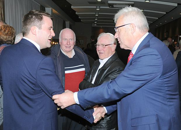 Cllr. John McGahon and Fergus O'Dowd TD at the Fine Gael general election convention in The Crowne Plaza