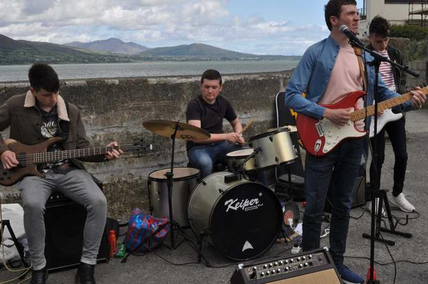 Local band New Lights performing at the RNLI Lifeboat fundraiser in Carlingford