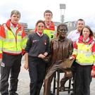 Members of the Drogheda ambulance team including Dundalk's Michelle McCabe (front right)