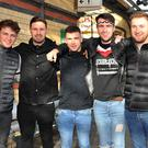 Stephen Callan, Sean Maguire, Dillon Greene, Niall Craven, Dylan O'Hanlon and Padraig McConville on their way to Dublin to support Dundalk FC in the Cup. Picture: Ken Finegan