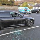The morning after Halloween and evidence of some of the vandalism in Carlingford