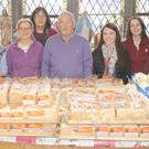 A group of volunteers at St. Patrick's Sacristy who gave out food parcels on Friday morning.
