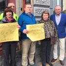 Residents make a protest outside a meeting of Dundalk Municipal Area earlier this year