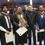 Nasir Yasir (second left) following his graduation ceremony at Dundalk Institute of Technology where he obtained a degree in Civil Engineering
