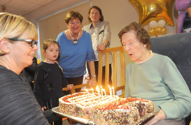 Annie Bishop Blowing Out The Candles On Her 100th Birthday 6th December Photos By