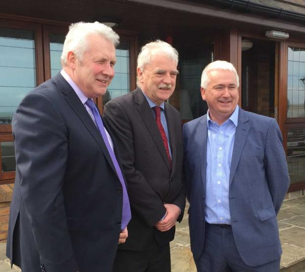 Minister Finnan McGrath TD, with Louth Deputies, Fergus O'Dowd and Declan Breathnach