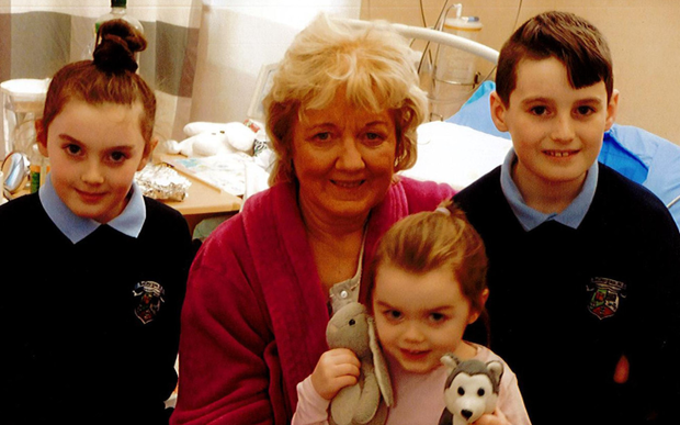 Geraldine Geraldine Hynes with her grandchildren Ruby, Kacey and Tommy