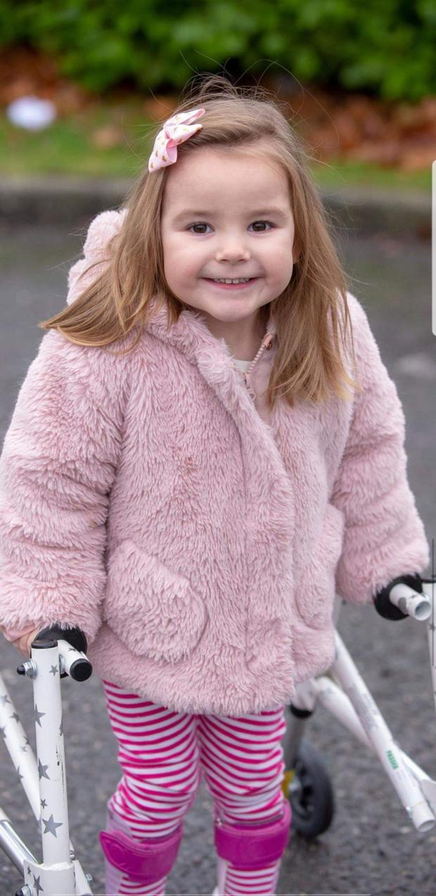 A campaign has been launched to help raise €100,000 for Sophia Griffin who was diagnosed with Spastic Diplegic Cerebral Palsy and PVL of the brain just after her second birthday in 2017
