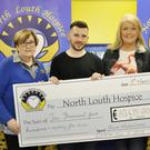 Kevin Mulholland ran 2018km in 2018 to raise funds for the North Louth Hospice. In picture is Ann McMahon, Kevin Mulholland, Anne Marie Browne and Nuala McGee