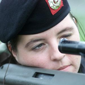 Lisa Smith pictured during her passing out parade with the Irish Army