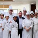 Award-winning Chef Neven Maguire, with Culinary Arts students as part of a 'Succeeding in Business' Seminar