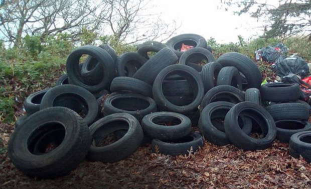 Dumping of tyres is a problem in the border area