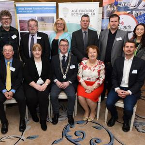Brendan McSherry (Heritage Officer Louth County Council), Michael Collins (TravelMedia.ie), Frank O Brien (Louth Leader Partnership), Muireann Fitzmaurice (MarketingCoach.ie), Sean Farrell (The Marshes Shopping Centre), Simon Wilson (North Pennines AONB), Grainne McKeown (Boyne Valley Flavours), Kieran Swail (SRC), Riona McCoy (Local Enterprise Office Louth), Pat McCormick (President Dundalk Chamber), Colette Moss (Louth County Council) and Pol O Conghaile (Travel Editor with the Irish Independent)