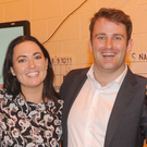 John McGahon, pictured celebrating his election to Louth County Council last month with Aine McMahon, has been elected as chairperson of the Dundalk Municipal District