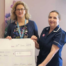 Fiona Mulligan, CMS Bereavement, Catherine McArdle, Gráinne Milne, Director of Midwifery and Laurraine Crinion, CMM 2 PostNatal Ward at the cheque presentation