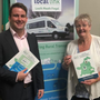 Cllr John McGahon with Flexibus Manager Miriam McKenna at the launch in Leinster House