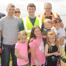 A group of volunteers at the Cooley Peninsula marine litter project on the Rampark Shore