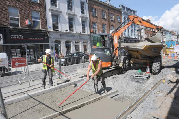 Clanbrassil Street works are well under way