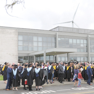 Students at the Conferring of Awards at the Dundalk Institute of Technology
