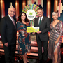 Fiona O'Hanlon,from Dundalk, won €51,000 including a holiday to Venice on the National Lottery Winning Streak Game Show. Pictured here at the presentation of the winners' cheques were from left to right: Marty Whelan Winning Streak co-host; Fiona O'Hanlon, the winning player; Declan Murray, National Lottery and Sinead Kennedy, Winning Streak Game Show co-host. The winning ticket was bought from Jenkinstown Post Office