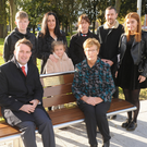 Cllr. John McGahon, Cathaoirleach of Dundalk Municipal District with members of the Duffy family