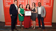 PetSafe staff accepting the award for Best Workplace in Ireland 2019