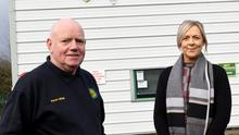 Peter with Erin Lambert, the Manager of the NCT Dundalk and Drogheda. Photo, Jimmy Weldon