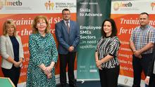 Aisling Sheridan, Adult Education Officer (left), Sadie Ward-McDermott, Director of Further Education and Training, Paul Rosbotham, Asst. Training Centre Manager, Aoife McDaid, Employer Engagement Officer, Kelvin Harvey, Adult Education Officer and Ciarán Ó Mathúna, Area Training Manager at the launch of the new employer-led training initiative, 'Skills to Advance' for Louth and Meath. Picture Ken Finegan/Newspics