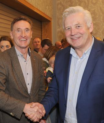 Peter Fitzpatrick and Fergus O'Dowd after the 2020 election count