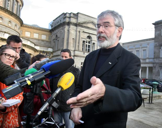 Gerry Adams,TD,the Sinn Fein leader