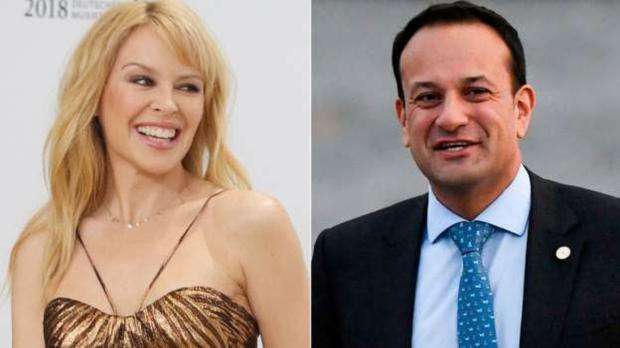 Leo Varadkar was under fire for a letter he wrote to Kylie Minogue