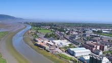 The Navvy Bank pictured from Dundalk Port