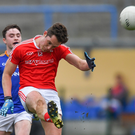Declan Byrne fires over a point for Louth against Longford. Picture: Piaras Ó Mídheach/SPORTSFILE