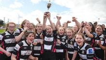 Dundalk RFC's ladies section has come a long way since Caoimhe O'Callaghan and her teammates won the Under-16 Shield against Portarlington in 2018. Picture: Sportsfile