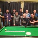 Players get ready for the 8-ball pool series at the Sportsmans