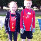 Grainne Moran (1st) & Hayden Mulholland, Dundalk St Gerard's AC who took part in the boys & girls U9 races at the Blackrock AC Cross Country Races at the Blackrock AC Cross Country Races