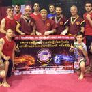 Pictured at the Muay Boran seminar in Dundalk were, front row: Aidan Heslin, David Byrne, Philie O'Rourke, Jett Gallagher, Peter McGuiness; back row: Adam Judge, Jay Brady, Kru Jason Brooks, Gerry Ross, Grand Master Kevin Lloyd, Mark Clifford, Kru Paul Deen, Kru Brian Gallagher, Kevin Murphy, Paul McNeill