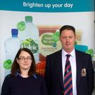 Maurice Soraghan welcomes Ciara Matthews of Tiernan's Centra Blackrock on board as sponsor of Dundalk Golf Club's popular Winter League
