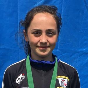 Niamh Brady with her silver medal from the Leinster Combined events