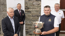 Pictured at the launch of the One Finance sponsored Dundalk Scratch Cup were (left to right) Martin McDonnell, Managing Director of One Finance; Trevor Giff, Captain, Dundalk Golf Club; defending champion Caolan Rafferty; and Dundalk Golf Club Head of Operations John O'Sullivan